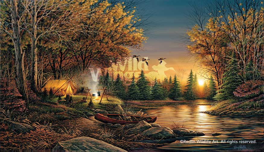 Terry Redlin Open Edition Quot Evening Solitude Encore Canvas Quot Wild Wings New Releases