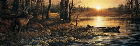 """Terry Redlin Open  Edition Horizions Collection Print:""""Morning Glow"""""""