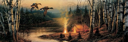 """Terry Redlin Open  Edition Horizions Collection Print:""""Twilight Glow"""""""