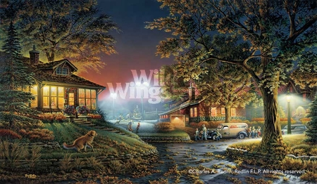 "Terry Redlin Open Edition Print: ""Highlight of the Neighborhood (Elite)"""