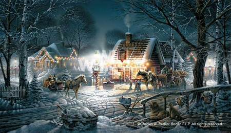 "Terry Redlin Signed and Numbered Limited Edition Master Canvas:""Sweet Memories"""
