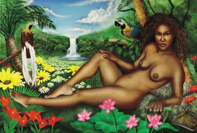 "Terry Wilson Hand Signed and Numbered Limited Edition Canvas Giclee: ""Garden of Eden"""