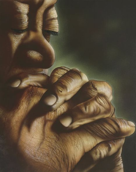 """Terry Wilson Hand Signed and Numbered Limited Edition Giclee: """"Blessed Hands"""""""