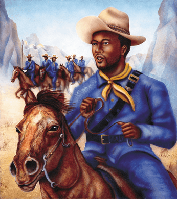 """Terry Wilson Hand Signed and Numbered Limited Edition Giclee: """"Buffalo Soldier"""""""