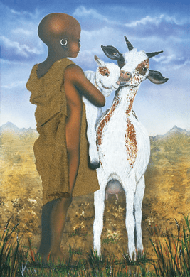 """Terry Wilson Hand Signed and Numbered Limited Edition Giclee: """"Goat Herder"""""""