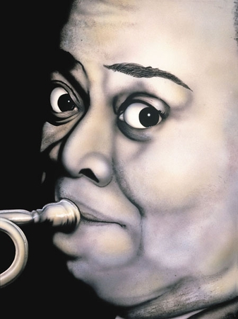 """Terry Wilson Hand Signed and Numbered Limited Edition Giclee: """"Louis Armstrong"""""""