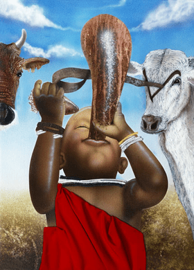 """Terry Wilson Hand Signed and Numbered Limited Edition Giclee: """"Maasai Calabash"""""""