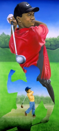 """Terry Wilson Hand Signed and Numbered Limited Edition Giclee: """"Tiger Woods"""""""