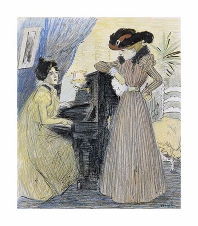 """Theophile Steinlen Fine Art Open Edition Giclée:""""The Great Pains"""""""