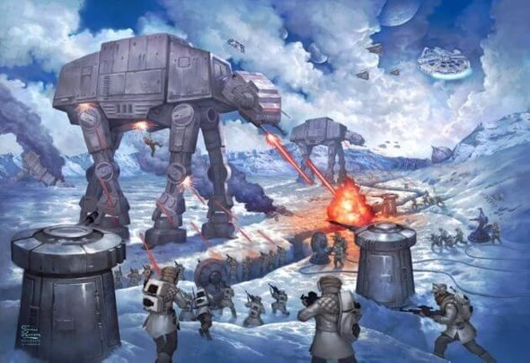 "Thomas Kinakde Studios Star Wars Limited Edition Giclee:""The Battle of Hoth"""