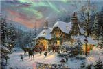 "Thomas Kinkade Limited Edition Fine Art Giclee:""Santa's Night Before Christmas"""