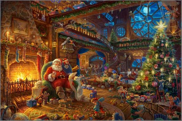Thomas Kinkade 2017 Limited Edition Christmas Print: