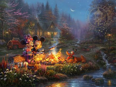 "Thomas Kinkade Disney Limited Edition:""Sweetheart Campfire"""