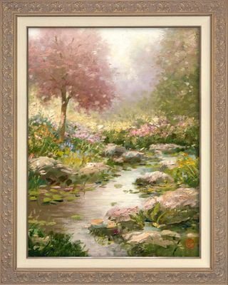 """Thomas Kinkade 2019 Mother's Day Framed Limited Edition Canvas Giclee:""""Maui Gardens"""""""