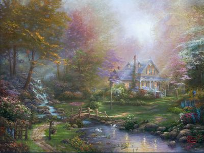 """Thomas Kinkade Limited Edition Fine Art Giclee:""""A Mother's Perfect Day"""""""