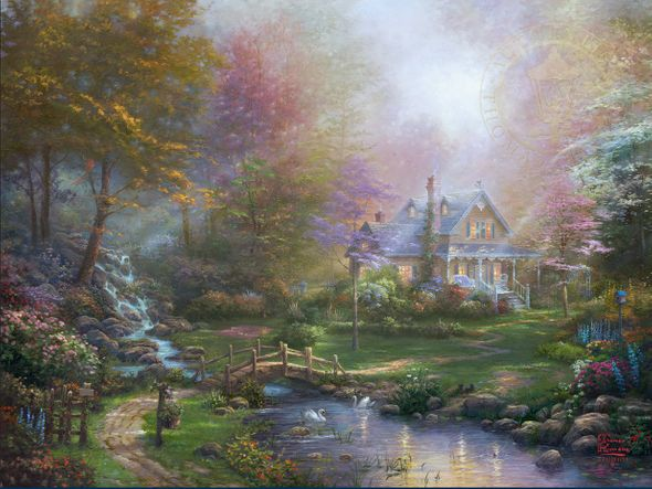 "Thomas Kinkade Limited Edition Fine Art Giclee:""A Mother's Perfect Day"""