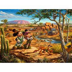 """Thomas Kinkade Limited Edition Disney Dreams Fine Art Giclee: """"Mickey and Minnie in the Outback"""""""
