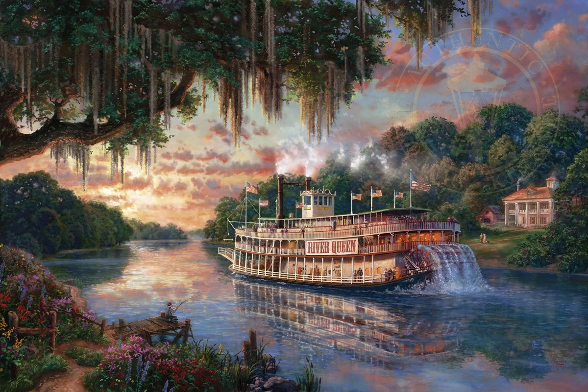 Thomas Kinkade Limited Edition Giclee Quot The River Queen
