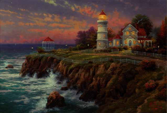 Thomas Kinkade Signed and Numbered Limited Edition Hand Embellished Canvas: