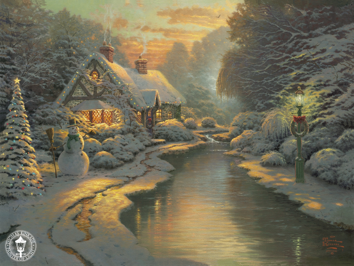 Thomas Kinkade Signed and Numbered Limited Edition Print and Hand ...