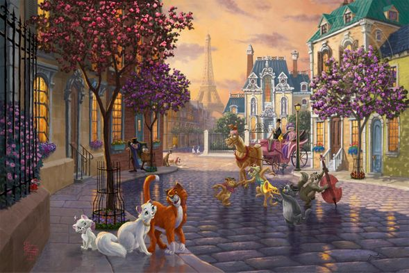 "Thomas Kinkade Limited Edition Disney Dreams Fine Art Giclee:""The Aristocats"""