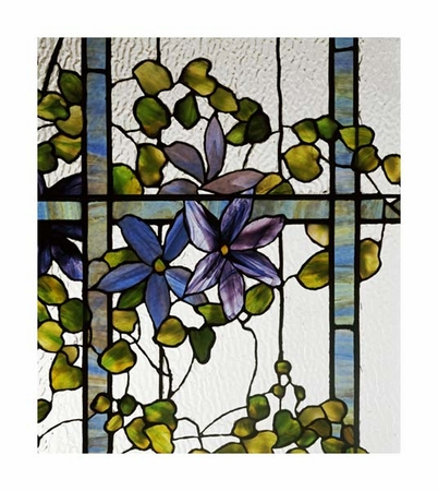 """Tiffany Studios Fine Art Open Edition Giclée:""""Detail of a Clematis"""""""