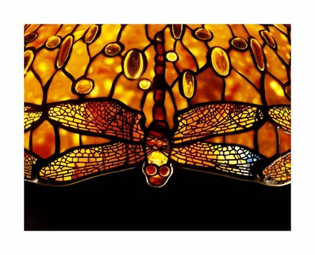 """Tiffany Studios Fine Art Open Edition Giclée:""""Detail of an Important Dichroic Dragonfly"""""""