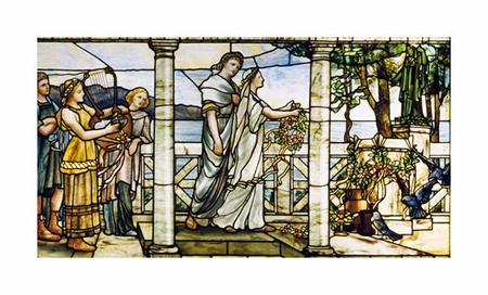 """Tiffany Studios Fine Art Open Edition Giclée:""""Group of Maidens"""""""