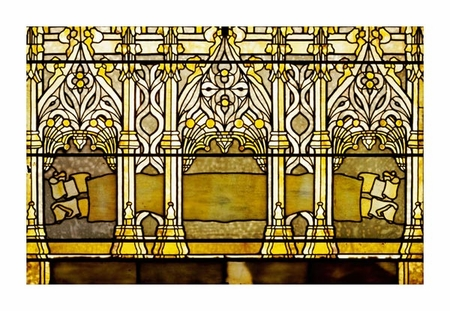"Tiffany Studios Fine Art Open Edition Giclée:""Leaded Glass Window, One of a Pair"""