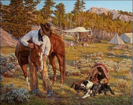 "Tim Cox Artist Hand Signed and Numbered Limited Edition Print and Canvas:""More Than Just A Horse"""