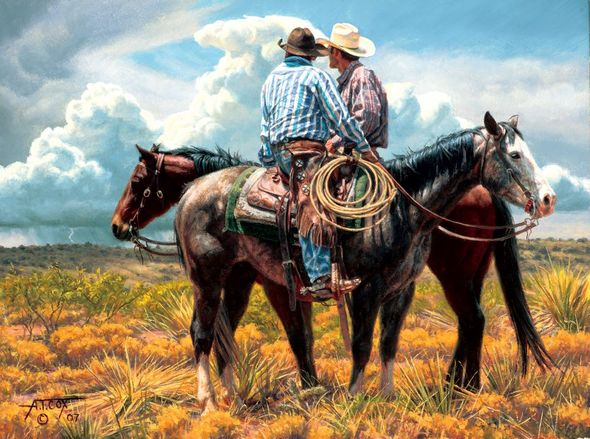 """Tim Cox Artist Hand-Signed and Numbered Limited Edition Print:""""Hoping for Rain"""""""