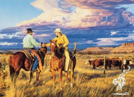 """Tim Cox Hand Signed and Numbered Limited Edition: """"Good Fences Make Good Neighbors"""""""