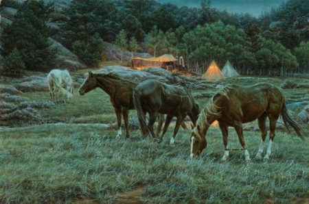 """Tim Cox Hand Signed and Numbered Limted Edition Print :""""Night Breezes"""""""