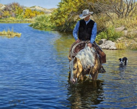 """Tim Cox Hand Signed and Numbered Limted Edition Print:""""Peaceful Waters"""""""