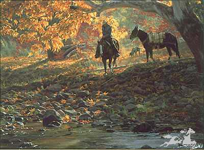 """Tim Cox Handsigned and Numbered Limited Edition Print:""""A Road Less Traveled"""""""