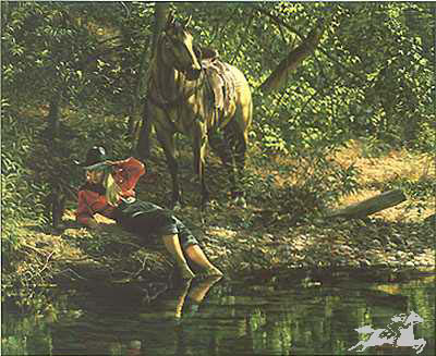 """Tim Cox Hand Signed and Numbered Limited Edition Print: """" Time to Reflect """""""