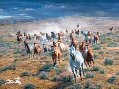 """Tim Cox Hand Signed and Numbered Limited Edition Print:""""Rumbling Thunder"""""""