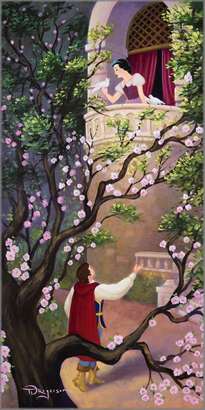 """Tim Rogerson Artist Signed and Numbered Limited Edition Giclee on Canvas:""""Where Art Thou Snow White?"""""""