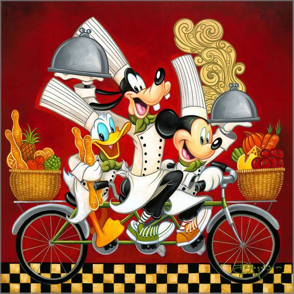 """Tim Rogerson Gallery Wrap Limited Edition Canvas Giclee:""""Wheeling with Flavor"""""""