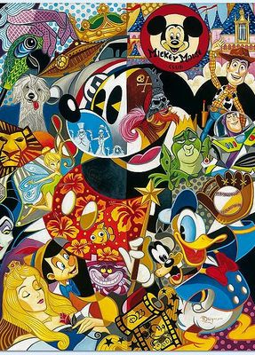 """Tim Rogerson Handsigned and Numbered Limited Edition D23 Canvas Giclee: """"In the Company of Legends """""""