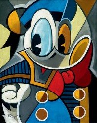 """Tim Rogerson Handsigned and Numbered Limited Edition Giclee on Canvas:""""Cubist Quack"""""""