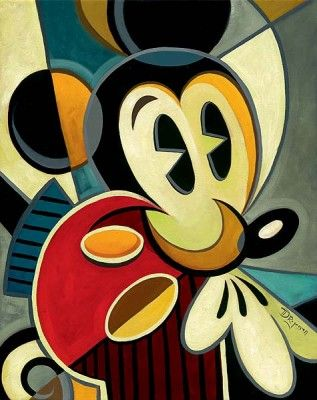 """Tim Rogerson Handsigned and Numbered Limited Edition Giclee on Canvas:""""Micasso"""""""