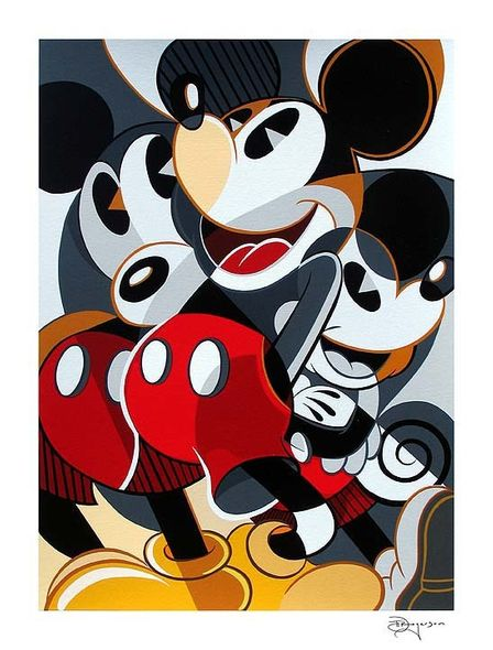 """Tim Rogerson Handsigned and Numbered Limited Edition Serigraph on Paper:""""Mousing Around 1"""""""