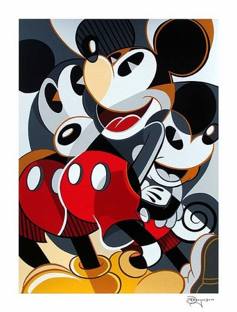 "Tim Rogerson Handsigned and Numbered Limited Edition Serigraph on Paper:""Mousing Around 1"""