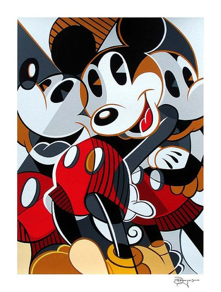 "Tim Rogerson Handsigned and Numbered Limited Edition Serigraph on Paper:""Mousing Around 2"""