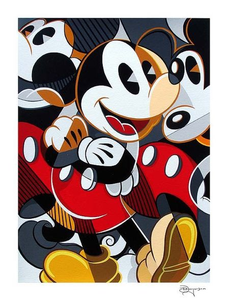 "Tim Rogerson Handsigned and Numbered Limited Edition Serigraph on Paper:""Mousing Around 3"""