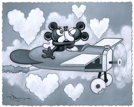 """Tim Rogerson Limited Satin Finish Print on Hand-Deckled Paper:""""Love Flying High"""""""
