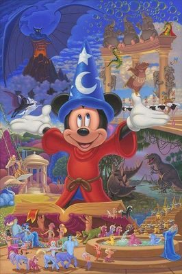 """Manuel Hernandez Embellished Limited Edition Canvas Giclee:""""Story of Music"""""""
