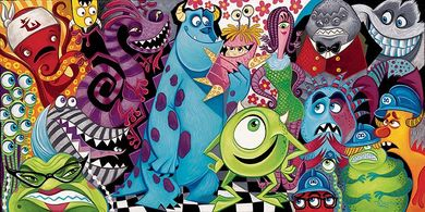 """Tim Rogerson Signed and Numbered Hand-Embellished Giclée on Canvas: """"The Scariest Little Monster"""""""