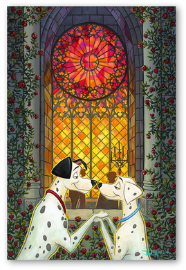 """Tim Rogerson Signed and Numbered Limited Edition Hand-Embellished Giclée on Canvas:""""101 Roses"""""""